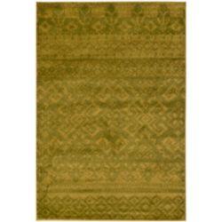 Safavieh Carpette d'intérieur, 6 pi x 9 pi, style traditionnel, rectangulaire, vert Adirondack