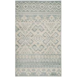 Safavieh Carpette d'intérieur, 3 pi x 5 pi, style traditionnel, rectangulaire, argent Adirondack