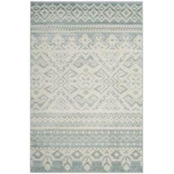Safavieh Carpette d'intérieur, 5 pi 1 po x 7 pi 6 po, style traditionnel, rectangulaire, argent Adirondack