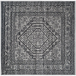 Safavieh Adirondack Winston Silver / Black 6 ft. x 6 ft. Indoor Square Area Rug