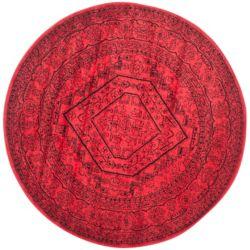Safavieh Carpette d'intérieur, 6 pi x 6 pi, style traditionnel, ronde, rouge Adirondack