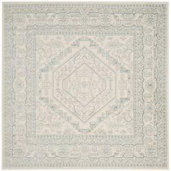 Safavieh Adirondack Winston Ivory / Slate 6 ft. x 6 ft. Indoor Square Area Rug