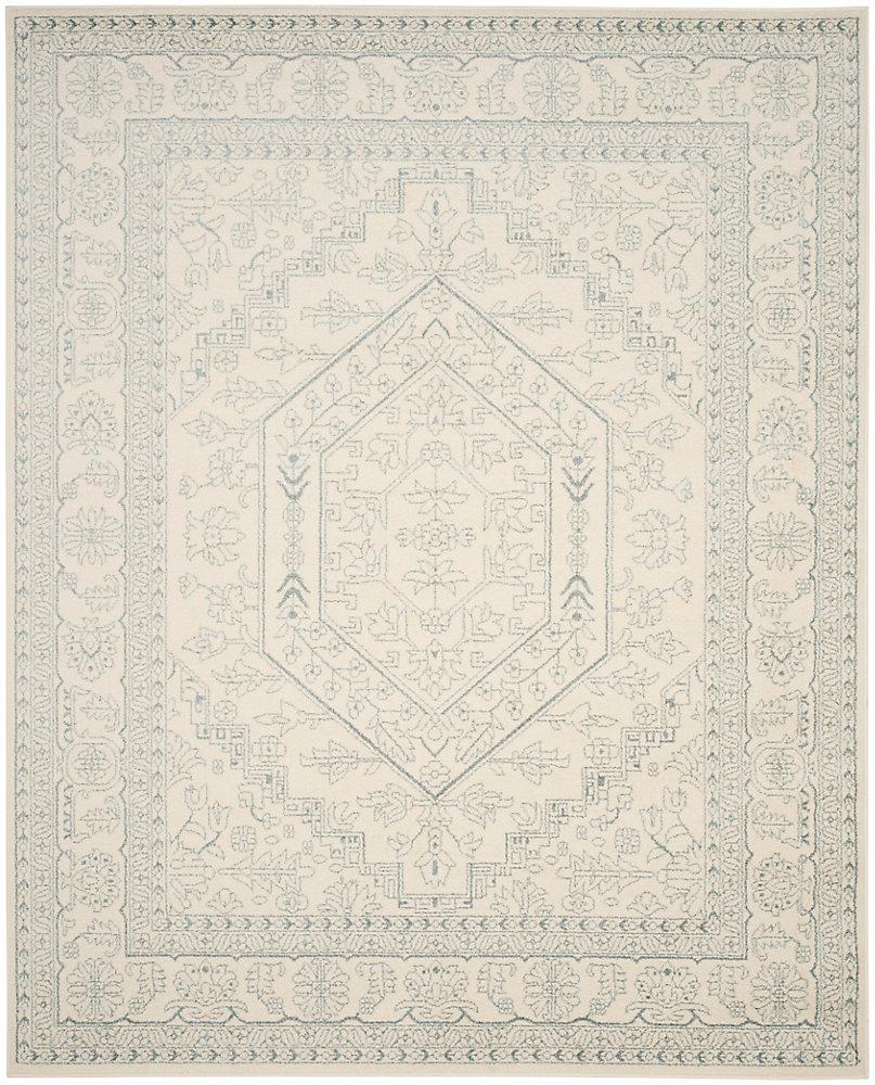 Carpette d'intérieur, 9 pi x 10 pi, style traditionnel, rectangulaire, blanc cassé Adirondack