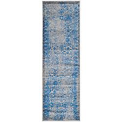 Safavieh Adirondack Mackenzie Grey / Blue 2 ft. 6 inch x 10 ft. Indoor Runner
