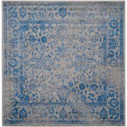 Safavieh Carpette d'intérieur, 6 pi x 6 pi, style traditionnel, carrée, gris Adirondack
