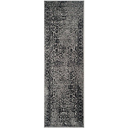 Safavieh Adirondack Mackenzie Grey / Black 2 ft. 6 inch x 20 ft. Indoor Runner
