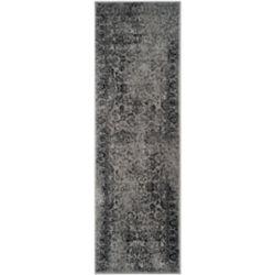 Safavieh Adirondack Mackenzie Grey / Black 2 ft. 6 inch x 22 ft. Indoor Runner