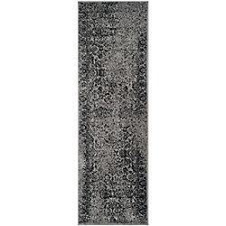 Safavieh Adirondack Mackenzie Grey / Black 2 ft. 6 inch x 6 ft. Indoor Runner