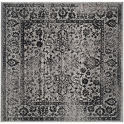Safavieh Adirondack Mackenzie Grey / Black 4 ft. x 4 ft. Indoor Square Area Rug