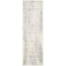 Safavieh Carpette d'intérieur, 2 pi 6 po x 10 pi, style traditionnel, argent Adirondack