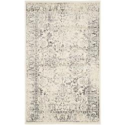 Safavieh Adirondack Mackenzie Ivory / Silver 3 ft. x 5 ft. Indoor Area Rug
