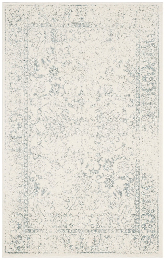 Carpette d'intérieur, 3 pi x 5 pi, style traditionnel, rectangulaire, blanc cassé Adirondack