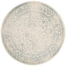 Safavieh Carpette d'intérieur, 8 pi x 8 pi, style traditionnel, ronde, blanc cassé Adirondack
