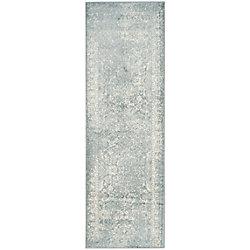 Safavieh Adirondack Mackenzie Slate / Ivory 2 ft. 6 inch x 10 ft. Indoor Runner