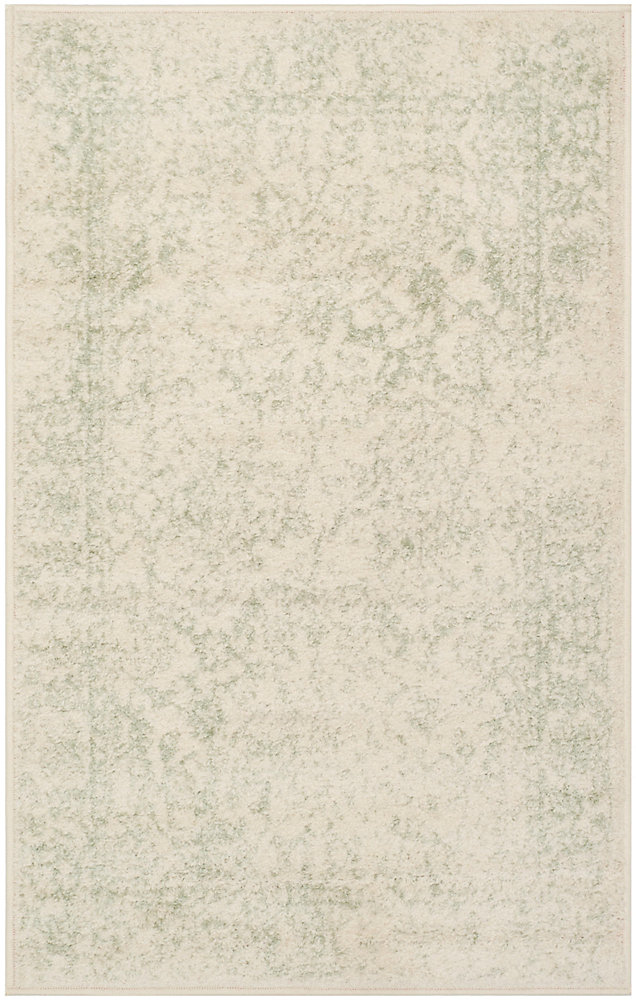 Carpette d'intérieur, 2 pi 6 po x 4 pi, style traditionnel, rectangulaire, havane Adirondack