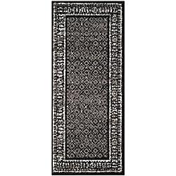 Safavieh Carpette d'intérieur, 2 pi 6 po x 10 pi, style traditionnel, noir Adirondack