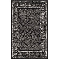 Safavieh Adirondack Luther Black / Silver 2 ft. 6 inch x 4 ft. Indoor Area Rug