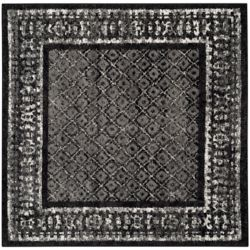 Safavieh Adirondack Luther Black / Silver 4 ft. x 4 ft. Indoor Square Area Rug