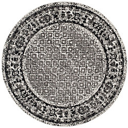 Safavieh Adirondack Luther Ivory / Silver 4 ft. x 4 ft. Indoor Round Area Rug