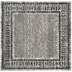 Safavieh Adirondack Luther Ivory / Silver 8 ft. x 8 ft. Indoor Square Area Rug