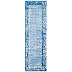 Safavieh Adirondack Luther Silver / Blue 2 ft. 6 inch x 10 ft. Indoor Runner