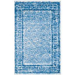 Safavieh Carpette d'intérieur, 2 pi 6 po x 4 pi, style traditionnel, rectangulaire, bleu Adirondack