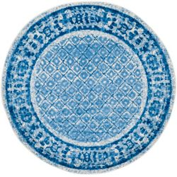 Safavieh Adirondack Luther Silver / Blue 4 ft. x 4 ft. Indoor Round Area Rug