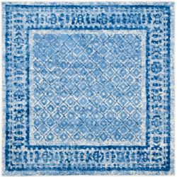 Safavieh Adirondack Luther Silver / Blue 4 ft. x 4 ft. Indoor Square Area Rug