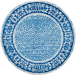 Safavieh Adirondack Luther Silver / Blue 6 ft. x 6 ft. Indoor Round Area Rug
