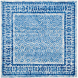 Safavieh Adirondack Luther Silver / Blue 8 ft. x 8 ft. Indoor Square Area Rug