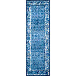 Safavieh Adirondack Luther Light Blue / Dark Blue 2 ft. 6 inch x 14 ft. Indoor Runner