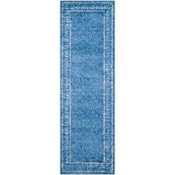 Safavieh Tapis de passage d'intérieur, 2 pi 6 po x 14 pi, style traditionnel, bleu Adirondack