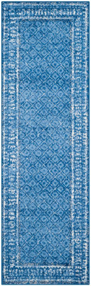 Safavieh Adirondack Luther Light Blue / Dark Blue 2 ft. 6 inch x 18 ft. Indoor Runner