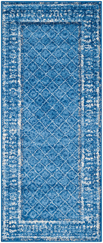 Adirondack Luther Light Blue / Dark Blue 2 ft. 6 inch x 6 ft. Indoor Runner