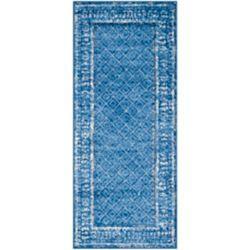 Safavieh Adirondack Luther Light Blue / Dark Blue 2 ft. 6 inch x 6 ft. Indoor Runner