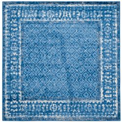Safavieh Adirondack Luther Light Blue / Dark Blue 4 ft. x 4 ft. Indoor Square Area Rug