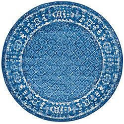 Safavieh Adirondack Luther Light Blue / Dark Blue 6 ft. x 6 ft. Indoor Round Area Rug