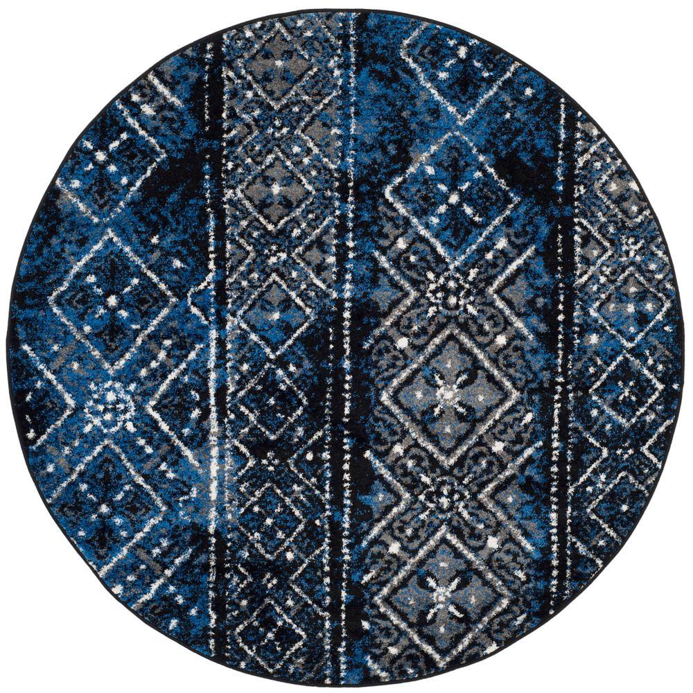 Safavieh Adirondack Carlie Silver / Black 4 ft. x 4 ft. Indoor Round Area Rug
