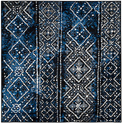 Safavieh Adirondack Carlie Silver / Black 4 ft. x 4 ft. Indoor Square Area Rug