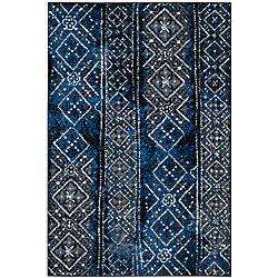 Safavieh Adirondack Carlie Silver / Black 6 ft. x 9 ft. Indoor Area Rug