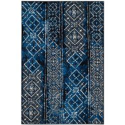 Safavieh Carpette d'intérieur, 6 pi x 9 pi, style traditionnel, rectangulaire, argent Adirondack