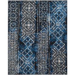 Safavieh Carpette d'intérieur, 9 pi x 10 pi, style traditionnel, rectangulaire, argent Adirondack