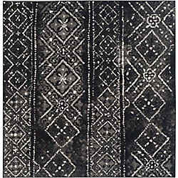 Safavieh Adirondack Carlie Black / Silver 4 ft. x 4 ft. Indoor Square Area Rug