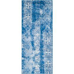 Safavieh Adirondack Carlie Silver / Blue 2 ft. 6 inch x 6 ft. Indoor Runner