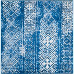 Safavieh Adirondack Carlie Silver / Blue 4 ft. x 4 ft. Indoor Square Area Rug