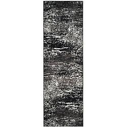 Safavieh Adirondack Lance Silver / Black 2 ft. 6 inch x 12 ft. Indoor Runner