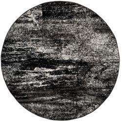 Safavieh Adirondack Lance Silver / Black 4 ft. x 4 ft. Indoor Round Area Rug