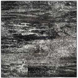 Safavieh Adirondack Lance Silver / Black 6 ft. x 6 ft. Indoor Square Area Rug