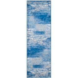 Safavieh Adirondack Lance Silver / Blue 2 ft. 6 inch x 16 ft. Indoor Runner