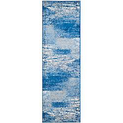 Safavieh Adirondack Lance Silver / Blue 2 ft. 6 inch x 18 ft. Indoor Runner
